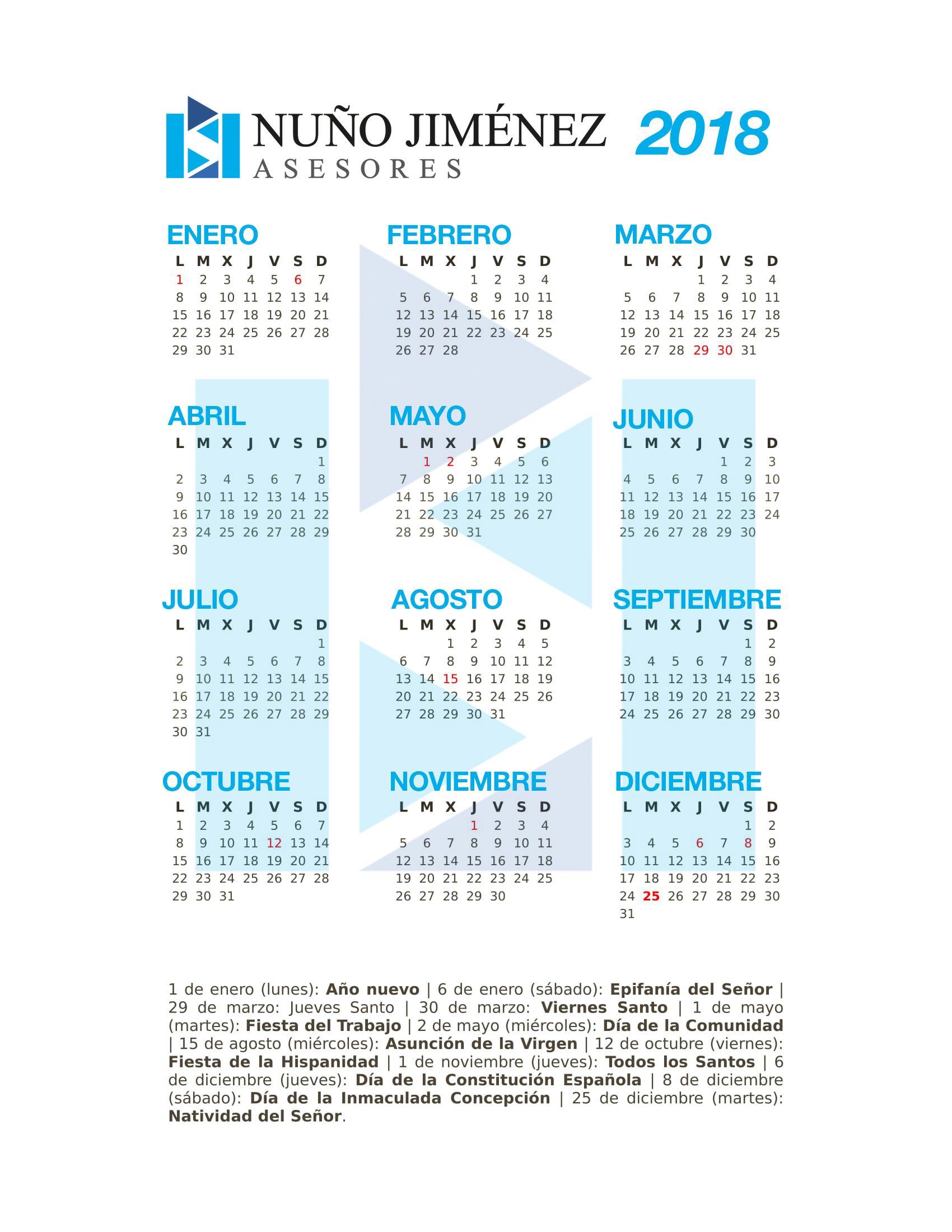 calendario-laboral-nuño-asesores